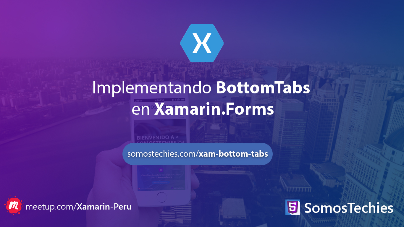 Implementando BottomTabs en Xamarin.Forms